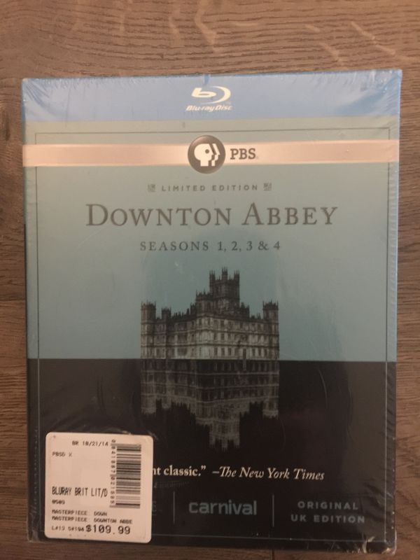 Downton Abbey Blu-ray DVD boxed set - Seasons 1,2,3, and 4