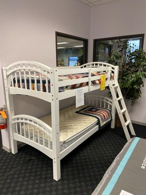 "Solid Wood Twin/twin Bunk Bed in Espresso or White / Mattress Available for $99 / Optional Storage Drawer/Trundle Available For $129 / 42.5""x81""x58"" for Sale in Vancouver, WA"