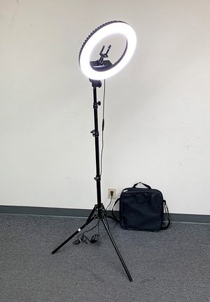 """Brand new $75 each LED 13"""" Ring Light Photo Stand Lighting 50W 5500K Dimmable Studio Video Camera for Sale in Whittier, CA"""