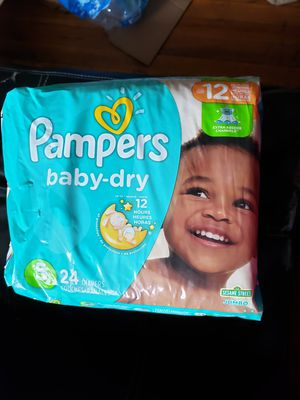 3 PACKAGES DIAPERS PAMPERS BABY DRY SIZE 5 for Sale in Adelphi, MD