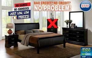 New 4pc Bedroom set (Black,Grey, & Cherry) for Sale in Fresno, CA