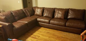 Leather sectional couch for Sale in Lawrence Creek, OK