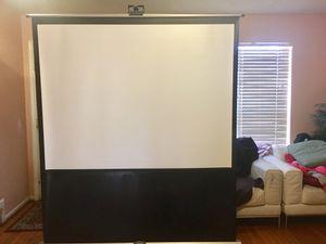 Great projector screen!! for Sale in Alexandria, VA