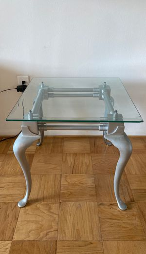Glass Top Silver End Table/Side Table for Sale in Washington, DC