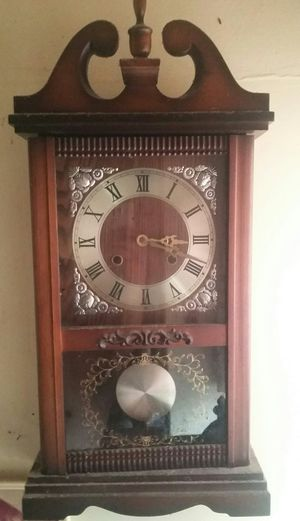Antiquarian Wooden clock w/ bell alarm for Sale in Hawthorne, CA