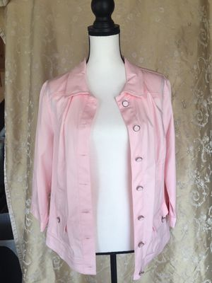 CJ banks Pink jacket Large petite for Sale in Powhatan, VA