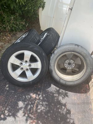Chevy tires and rims for Sale in Del Valle, TX