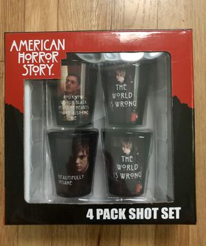 American Horror Story 4 pack shot glasses set, brand new, Collectible! for Sale in Los Angeles, CA