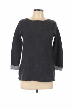 St. Tropez West Women Gray Wool Pullover Sweater Size L for Sale in French Creek, WV