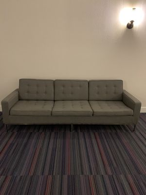 Modern Grey Tufted Couch for Sale in Delray Beach, FL