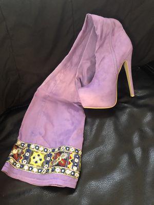 Purple Rain Thigh high boots for Sale in Cincinnati, OH