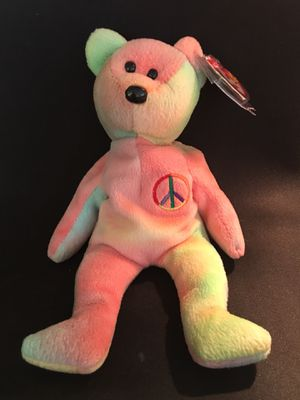 Peace the tye dye bear Ty Beanie Baby AUTHENTIC- ORIGINAL with ERRORS for Sale in La Habra Heights, CA