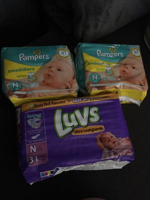 Pampers and Luvs newborn diapers for Sale in Phoenix, AZ