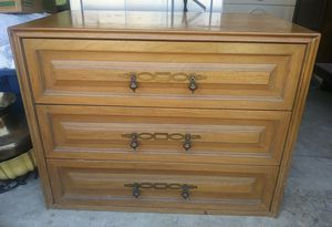 Vintage Three Drawer Wood Dresser Made By America of Martinville for Sale in Cocoa, FL