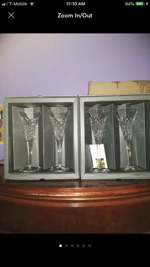 Waterford crystal wine glasses for Sale in Poinciana, FL