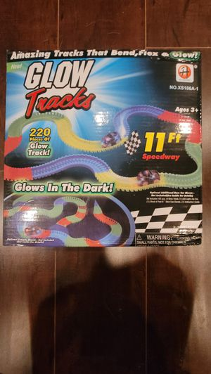 New glow magic track car toy set for Sale in Montclair, CA