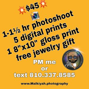 Photoshoots with free gift! for Sale in Southfield, MI
