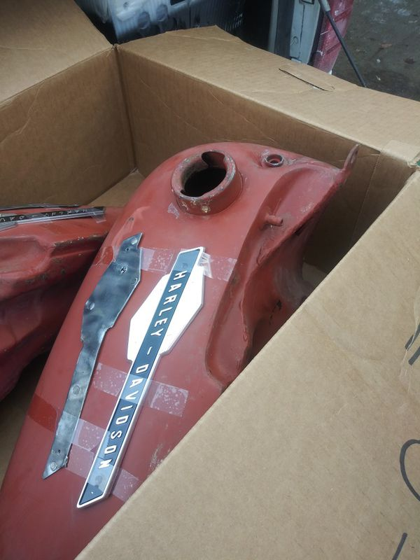 1965 panhead stock original 5 gal. Tanks {contact info removed}