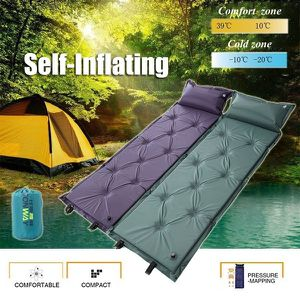 New Self-Inflating Camping Sleeping Bag Mat Single Inflatable Portable Air Pad with Pillow for Sale in Goodyear, AZ