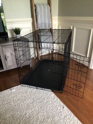 Large dog crate with two doors for Sale in Lillington, NC