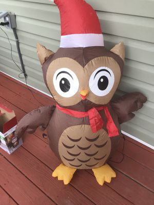 Inflatable Owl Christmas Decoration for Sale in Chesapeake, VA