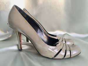 Christian Dior patent leather heels size 7, with DIOR plaques, round toe for Sale in Wauwatosa, WI