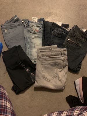 Woman jeans and adidas active wear (all 6) size XS-S for Sale in Los Angeles, CA