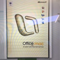 Microsoft Office: Mac 2004 Student & Teacher Edition Includes 3 Product Keys, CD for Sale in Petaluma,  CA