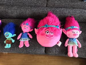 BIG Plush toys trolls pillow for Sale in Tinley Park, IL