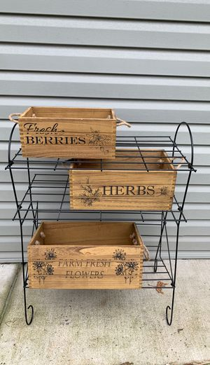 Wooden storage bins and shelves for Sale in Elmwood Park, IL