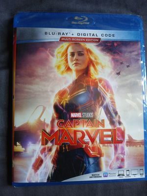 Captain Marvel Blu-Ray Brand new for Sale in Brick Township, NJ