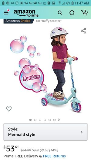 Huffy electric mermaid bubble scooter for Sale in Dublin, GA