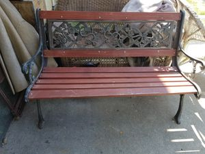 Cast iron and wooden bench for Sale in Saint Joseph, MO