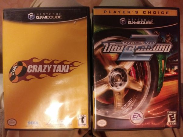 Nintendo GameCube Crazy Taxi & Need For Speed