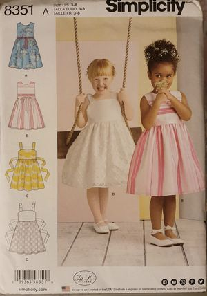 Simplicity 8351 Girl's Dresses Sewing Pattern for Sale in Downey, CA