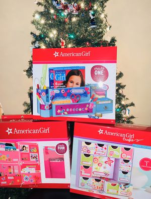 3 NEW American Girl Doll Crafts - jewelry Bins, wall pocket and desk organizer for Sale in Gresham, OR