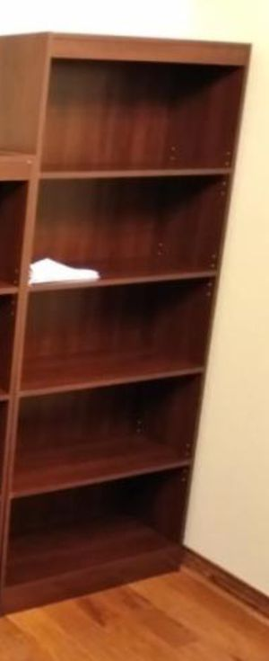 New!! 5 Shelf Unit, Bookcase, Storage Unit, Organizer-Royal Cherry for Sale in Phoenix, AZ