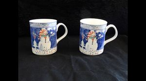 Noritake Epoch Collection Mr Snowman E115 Coffee Mugs set of 2 for Sale in San Diego, CA