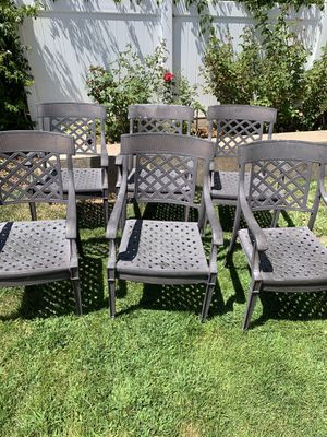 6 Iron Patio Chairs - $75 Each for Sale in San Juan Capistrano, CA