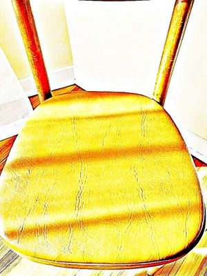 Wooden Shelby Williams Industries MCM chairs (4) with leather seat cushion. for Sale in Needham, MA