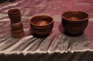 Hand made mahogany bowls and a vase for Sale in Fort Pierce, FL