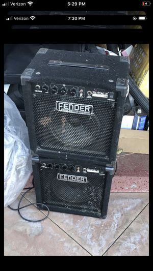 Fender bass amplification 2 x$100 for Sale in Cerritos, CA