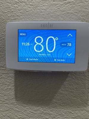 Sensi Wi-Fi touch Thermostat -White for Sale in Rancho Cucamonga, CA