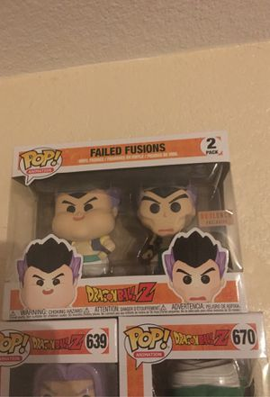 Dragon ball Failed fusions 2 pack pop for Sale in Sacramento, CA