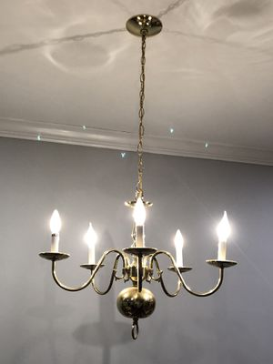 5-Light Brass Chandelier - 2nd PRICE REDUCTION!! for Sale in Manassas Park, VA