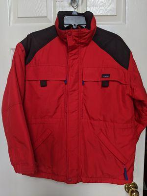 Vintage L.L Bean FULL ZIP Red Thinsulate Coat Parka Kids LG Snow Jacket W/ Hood for Sale in Alpharetta, GA