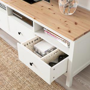 HEMNESTV unit, white , light brown, 58 1/4x18 for Sale in Waltham, MA
