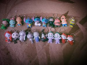Collectible keychains from Lilo and Stitch snd Nightmare before Christmas for Sale in Tualatin, OR
