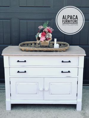 Farmhouse Antique Refinished Cabinet Washstand for Sale in Olathe, KS
