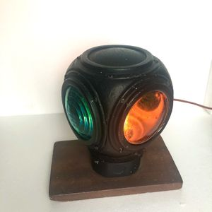 Vintage 1930's Cast Metal Railroad 4 Way Train Electric Signal Light Lantern for Sale in Amherst, OH
